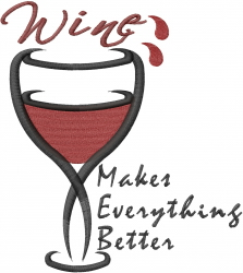 Wine Best Cure embroidery design