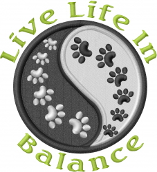 Seek Balance embroidery design