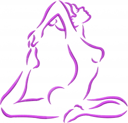 Yoga Stretching Pose embroidery design