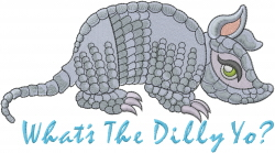 Whats The Dilly Yo? embroidery design