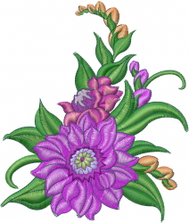 Sping Flower embroidery design