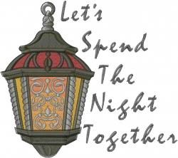 Lantern Romantic Night embroidery design