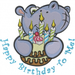 Happy Birthday To Me! embroidery design