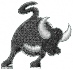 Bullish embroidery design