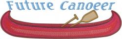 Future Canoer embroidery design