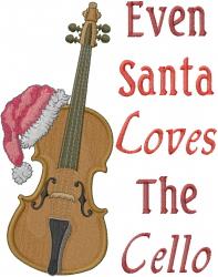 Santa Loves Music embroidery design
