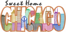 Chicago Sweet Home embroidery design