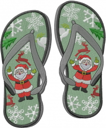 Christmas Flip Flop embroidery design