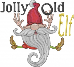 Jolly Old Elf embroidery design