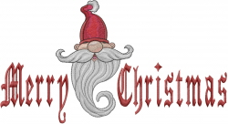 Merry Christmas Elf embroidery design
