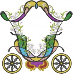 Cinderella Carriage embroidery design