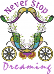 Cinderella Carriage Dream On embroidery design