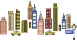 City embroidery design