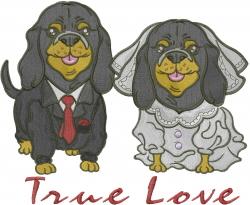 Puppies True Love embroidery design