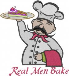 Real Men Bake embroidery design