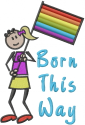 Born This Way embroidery design