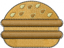 Double Burger embroidery design