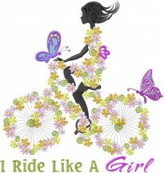 Ride Like A Girl embroidery design