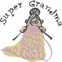 Super Grandma embroidery design