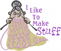 Like To Knit Stuff embroidery design
