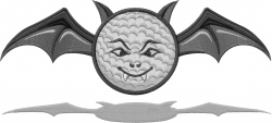Halloween Golf Bat embroidery design
