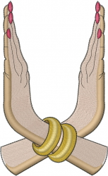 Woman Hands embroidery design