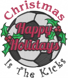 Christmas Soccer  embroidery design