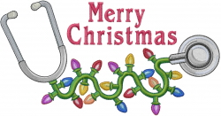 Merry Christmas Stethescope embroidery design
