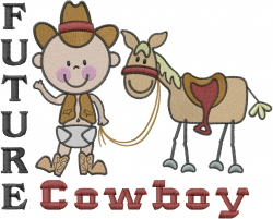 Future Cowboy embroidery design