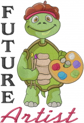 Future Artist embroidery design