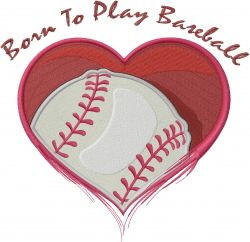Born To Play Baseball embroidery design