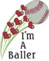 Im A Baller embroidery design