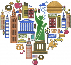 Love New York embroidery design