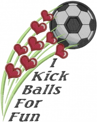 Soccer Kick For Fun embroidery design