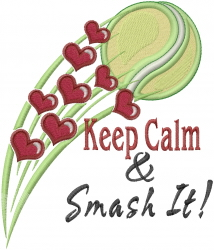 Serve It Smash It embroidery design