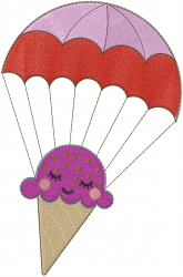Ice Cream Parachute embroidery design