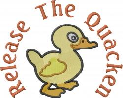 Release The Quacken embroidery design