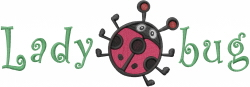 Ms. Lady Bug embroidery design