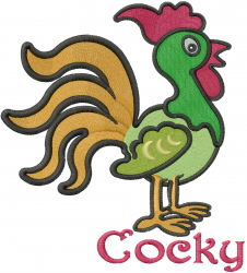 Cute Baby Rooster embroidery design