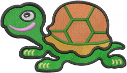 Cute Baby Turtle embroidery design