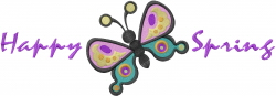 Happy Spring Butterfly embroidery design