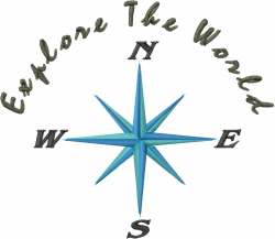 Directional Compass_Explore The World_ embroidery design
