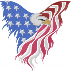 Eagle Flag embroidery design