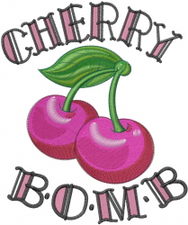 Cherry Bomb embroidery design