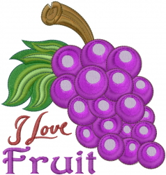 I Love Fruit embroidery design