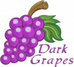 Dark Grapes embroidery design