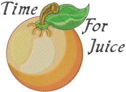 Time For Orange Juice embroidery design