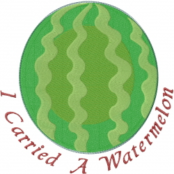 Carried A Watermelon embroidery design