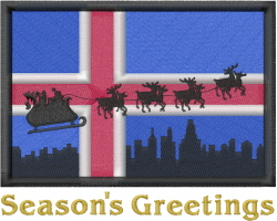 Seasons Greetings Flag embroidery design
