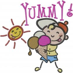 Yummy Ice Cream embroidery design